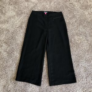 Vince Camuto Wide Leg Black Cropped Pants Size 4
